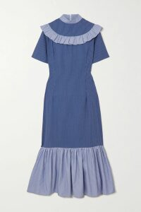 Isabel Marant - Arodie Printed Crepe De Chine Dress - Gray