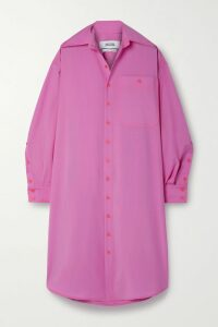 Caroline Constas - Onira Off-the-shoulder Striped Silk-satin Blouse - Orange