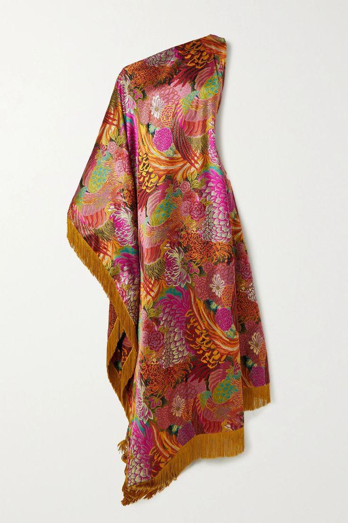 Mugler - Printed Satin Skirt - Orange