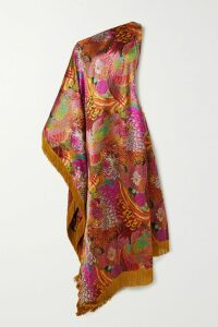 Mugler - Printed Satin Skirt - Orange
