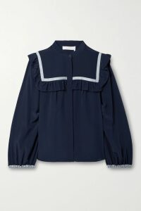Dolce & Gabbana - Ruched Floral-print Cotton-tulle Midi Dress - Pink
