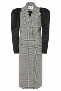 Erdem - Albert Double-breasted Polka-dot And Prince Of Wales Checked Cotton-blend Coat - Black