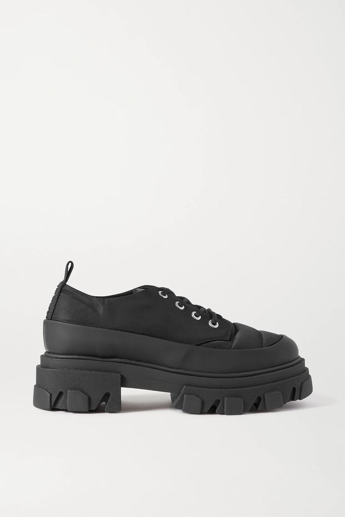 KENZO - Paneled Printed Linen And Satin Maxi Dress - Green