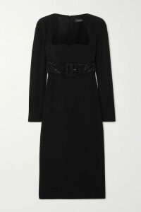 Valentino - Pleated Printed Silk-crepe Midi Skirt - Purple