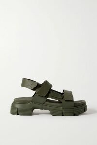 The Vampire's Wife - Ruffled Floral-print Hammered Silk-satin Mini Dress - Black