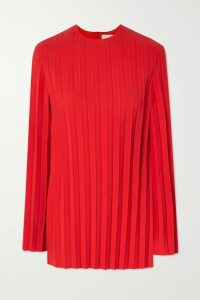 Versace - Printed Silk-twill Midi Dress - Blue