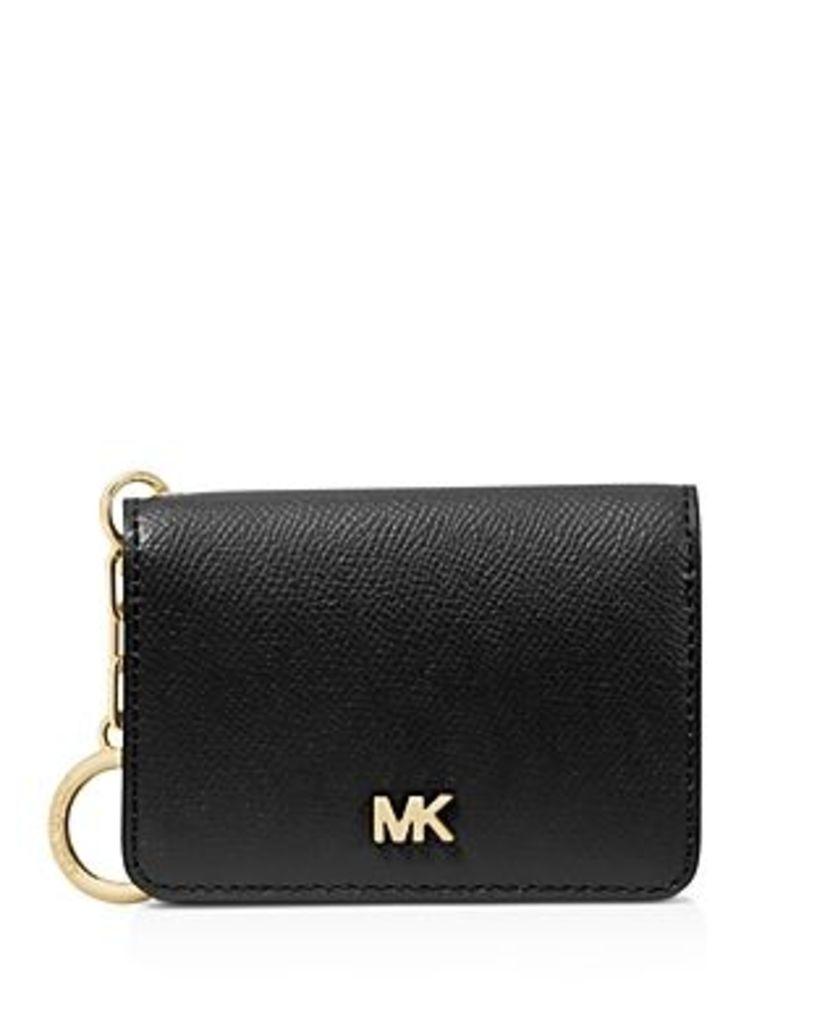 Michael Michael Kors Leather Key Ring Card Holder