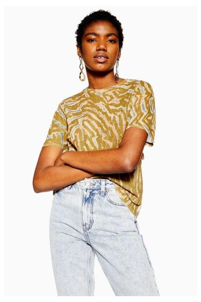 Womens Camouflage Tiger Mesh T-Shirt - Khaki, Khaki