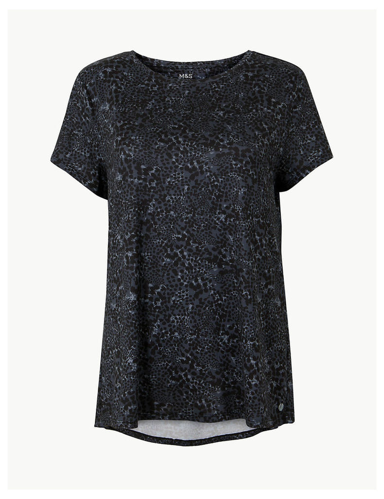 M&S Collection Quick Dry Short Sleeve Sport Top