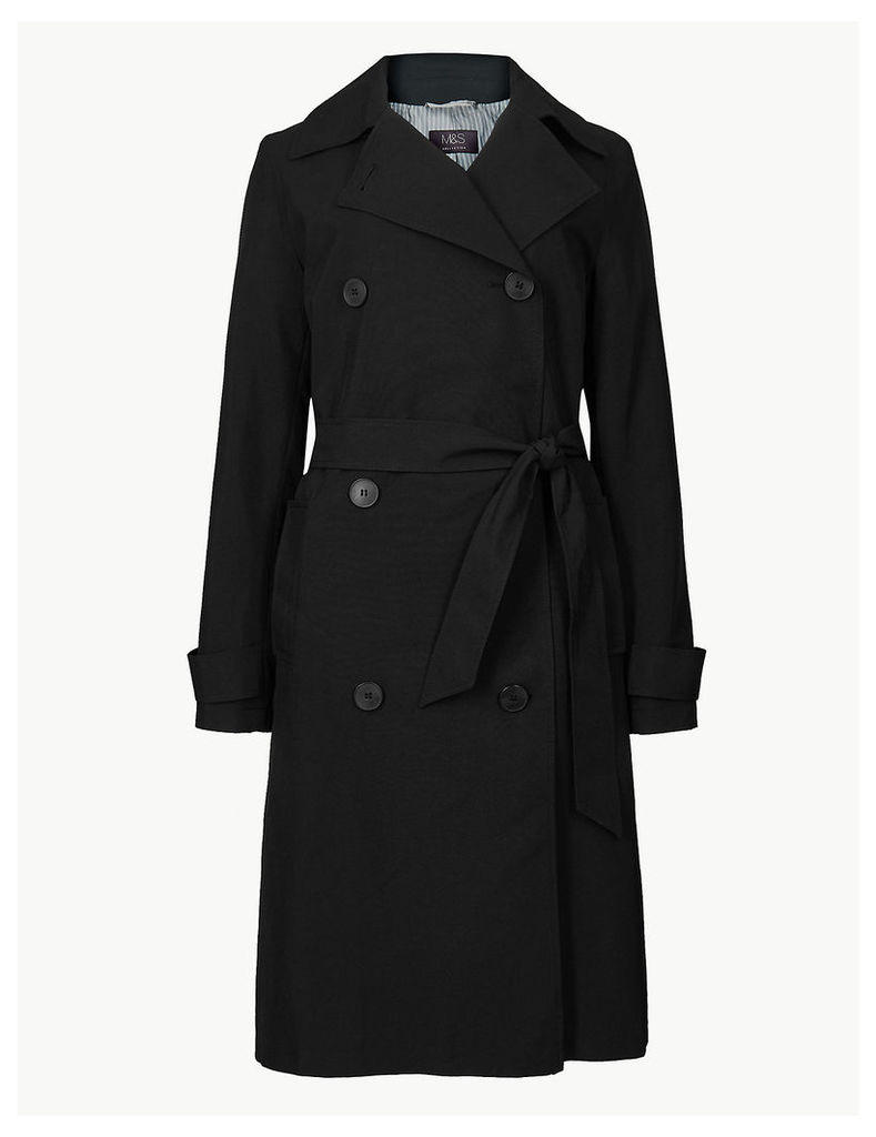 M&S Collection Double Breasted Trench Coat