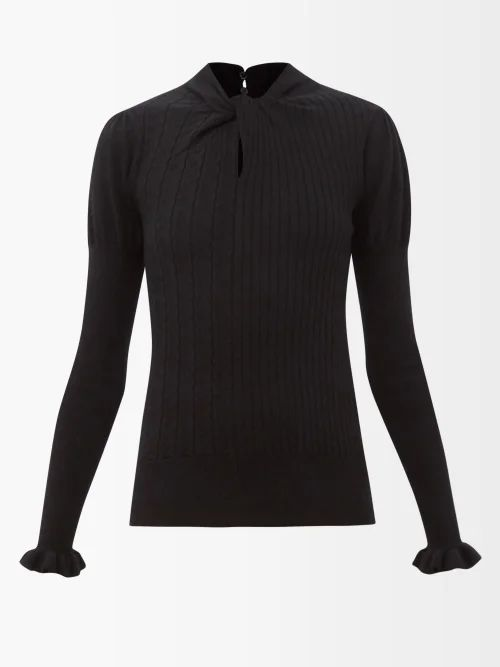 Vetements - Logo Embroidered Striped Cotton Shirt - Womens - Blue Multi