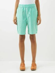 Pleats Please Issey Miyake - Buttoned Side Tech Pleated Midi Skirt - Womens - Pink