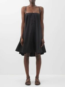 Hvn - Laura Gingham Cotton Midi Dress - Womens - Blue Multi
