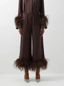 Junya Watanabe - Panelled Wool And Tulle Midi Skirt - Womens - Black