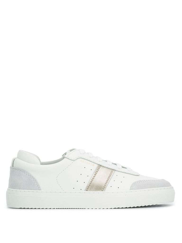 Axel Arigato metallic stripe low top sneakers - White