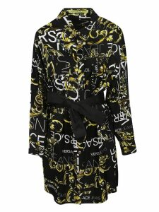 Versace Logo Print Shirt Dress