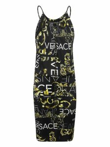 Versace Printed Logo Dress