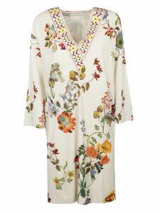 Etro V-neck Floral Print Dress