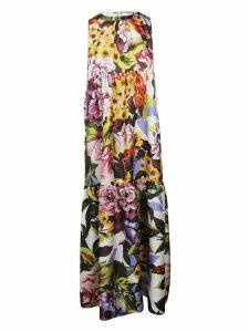 Blugirl Long Sleeveless Floral Print Dress