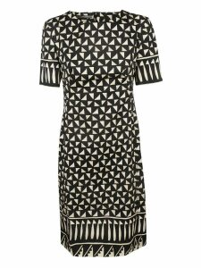 Alberta Ferretti Abstract Print Mid-length Dress