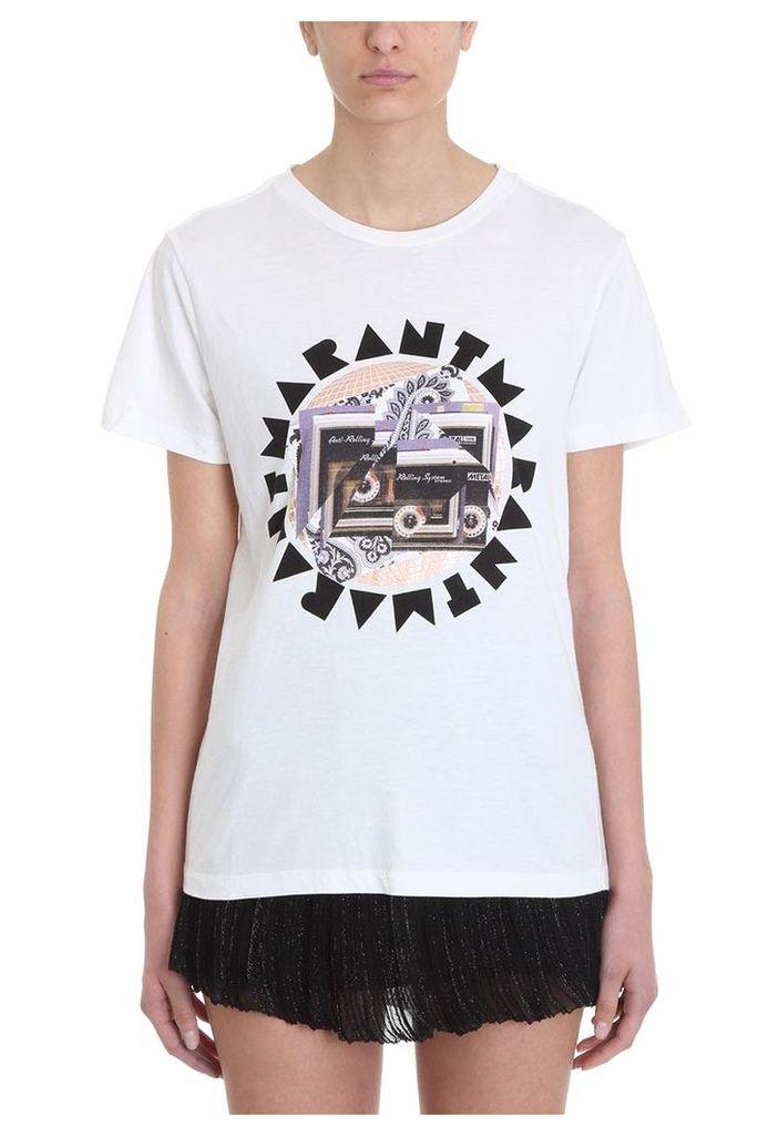 Isabel Marant Zaof Disco Ball Printed White T-shirt