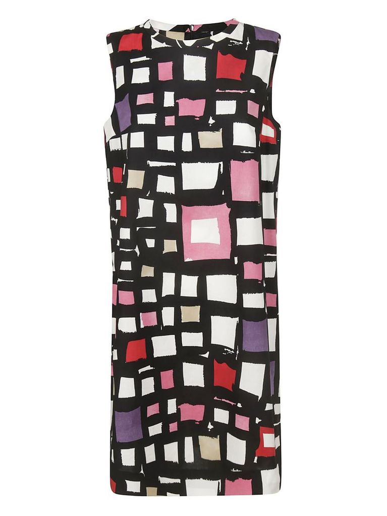 Max Mara Square Print Dress