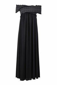 Dondup Off Shoulder Pleated Dress