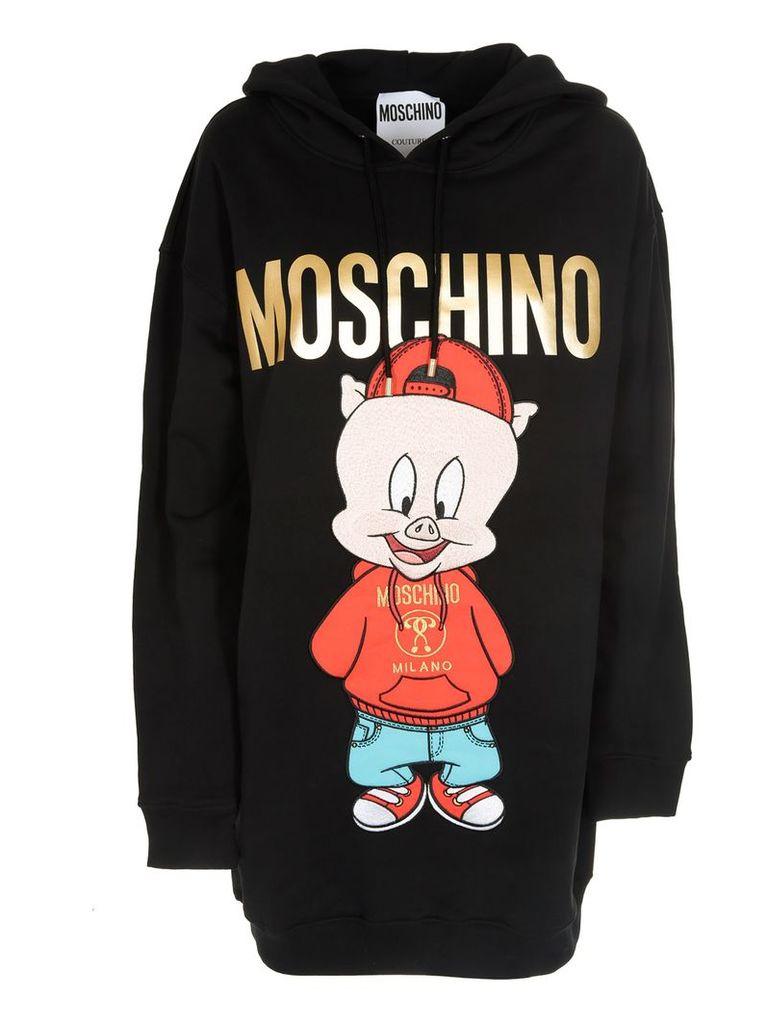 Moschino Oversized Graphic Hoodie