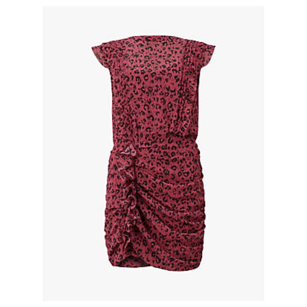 AllSaints Hali Roar Dress, Pink/Multi