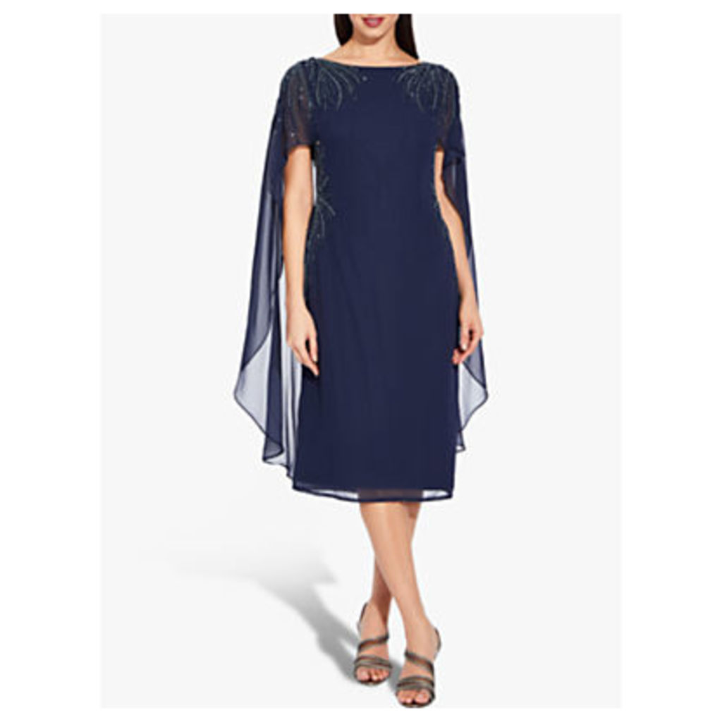 Adrianna Papell Plus Size Beaded Dress, Midnight