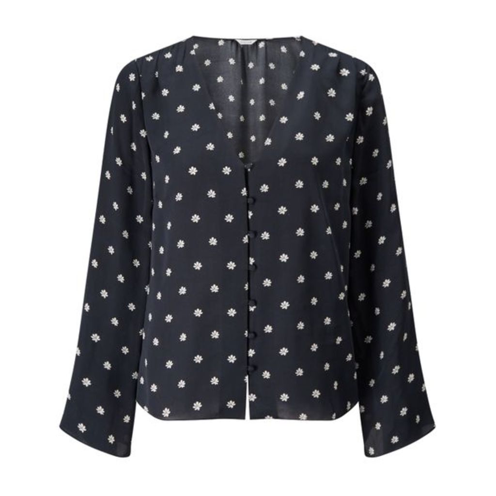 Jigsaw Star Anise Open Neck Top