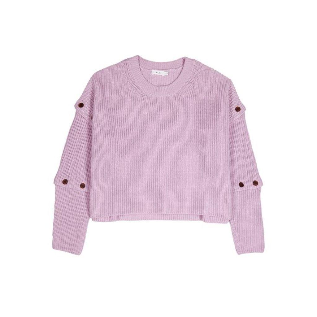 A.L.C. Adams Lilac Cotton-cashmere Blend Sweater