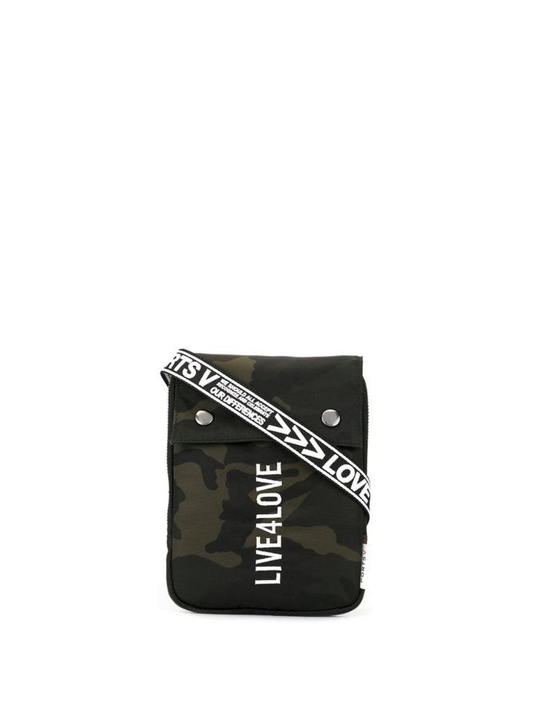 Ports V Live 4 Love camouflage crossbody pouch - Green