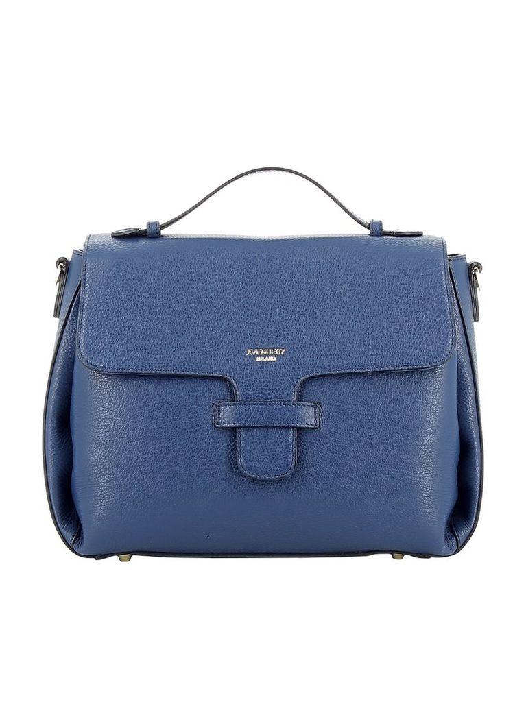 Avenue 67 Blue Leather Handbag