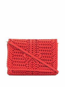 Anya Hindmarch woven clutch - Red