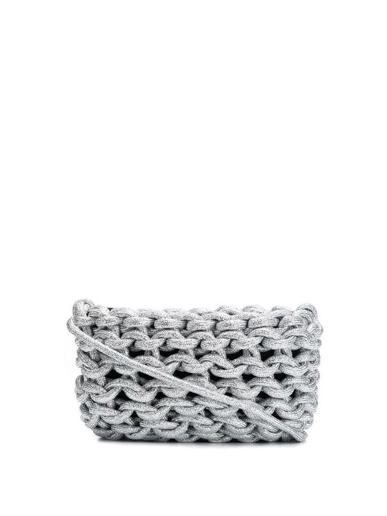 Alienina braided bag - Silver