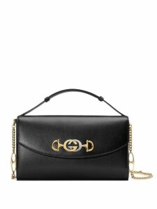 Gucci Zumi smooth leather small shoulder bag - Black
