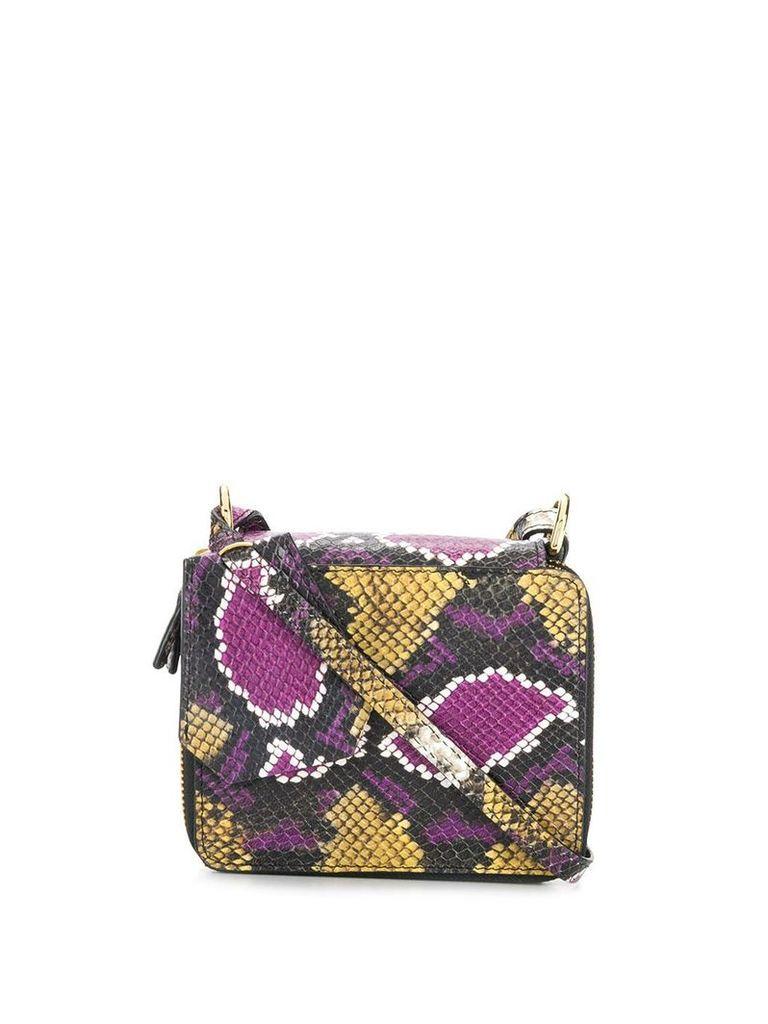 Marques'Almeida snakeskin effect crossbody bag - Purple
