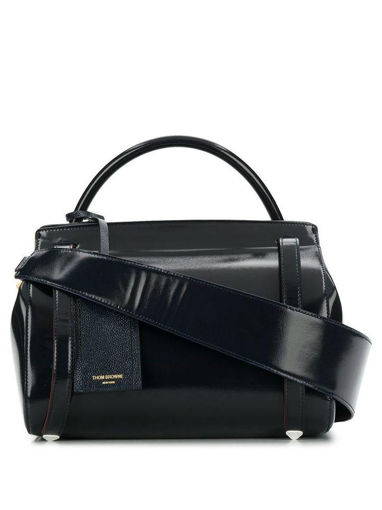 Thom Browne 3-Strap Large Navy Shoulder Bag - Blue