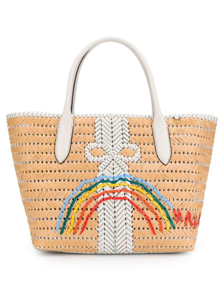 Anya Hindmarch Neeson Rainbow basket tote - Neutrals