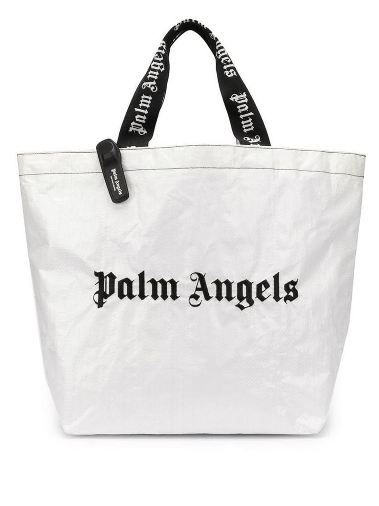 Palm Angels Classic Logo Shopper - White