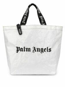 Palm Angels Classic Logo Shopper - White