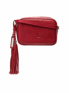 Saint Laurent red Lou leather belt bag