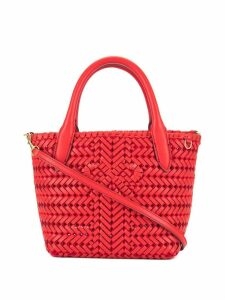 Anya Hindmarch woven mini tote - Red