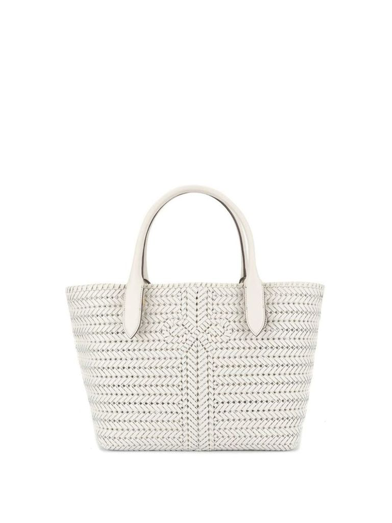 Anya Hindmarch woven tote - White