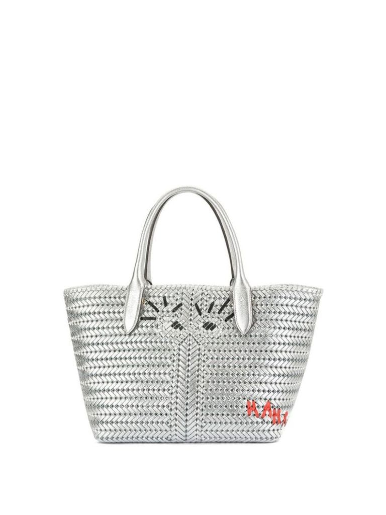 Anya Hindmarch woven tote - Silver