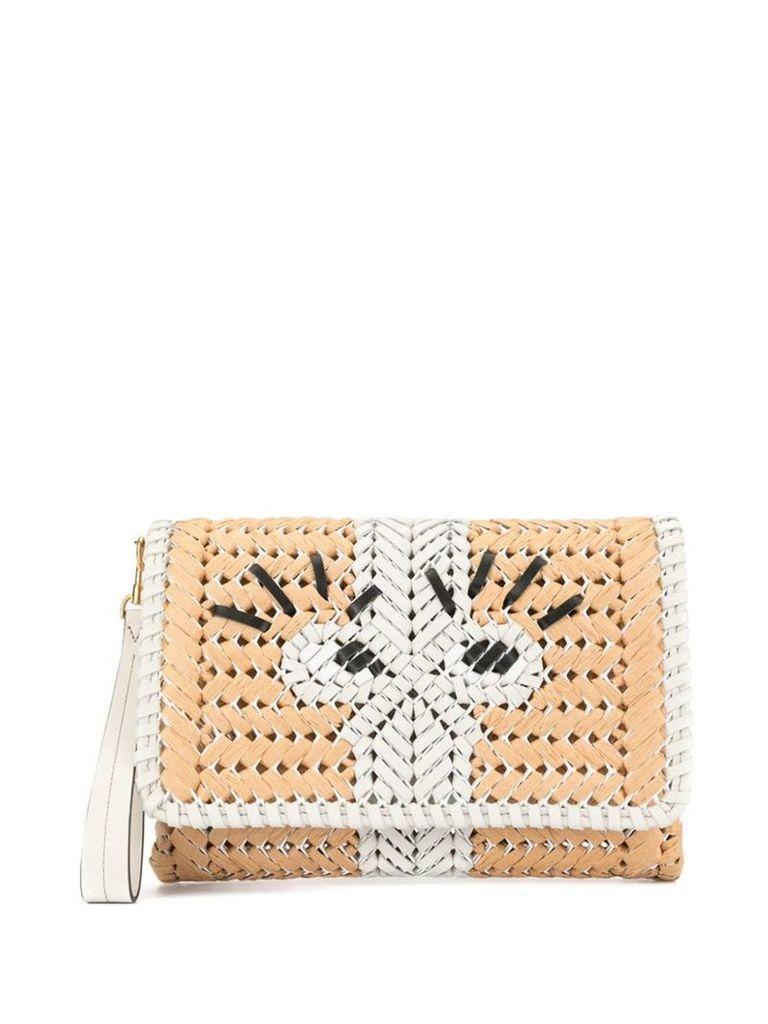 Anya Hindmarch basket clutch - Brown