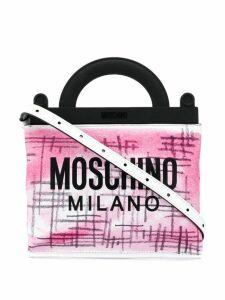 Moschino mini shopping bag - White
