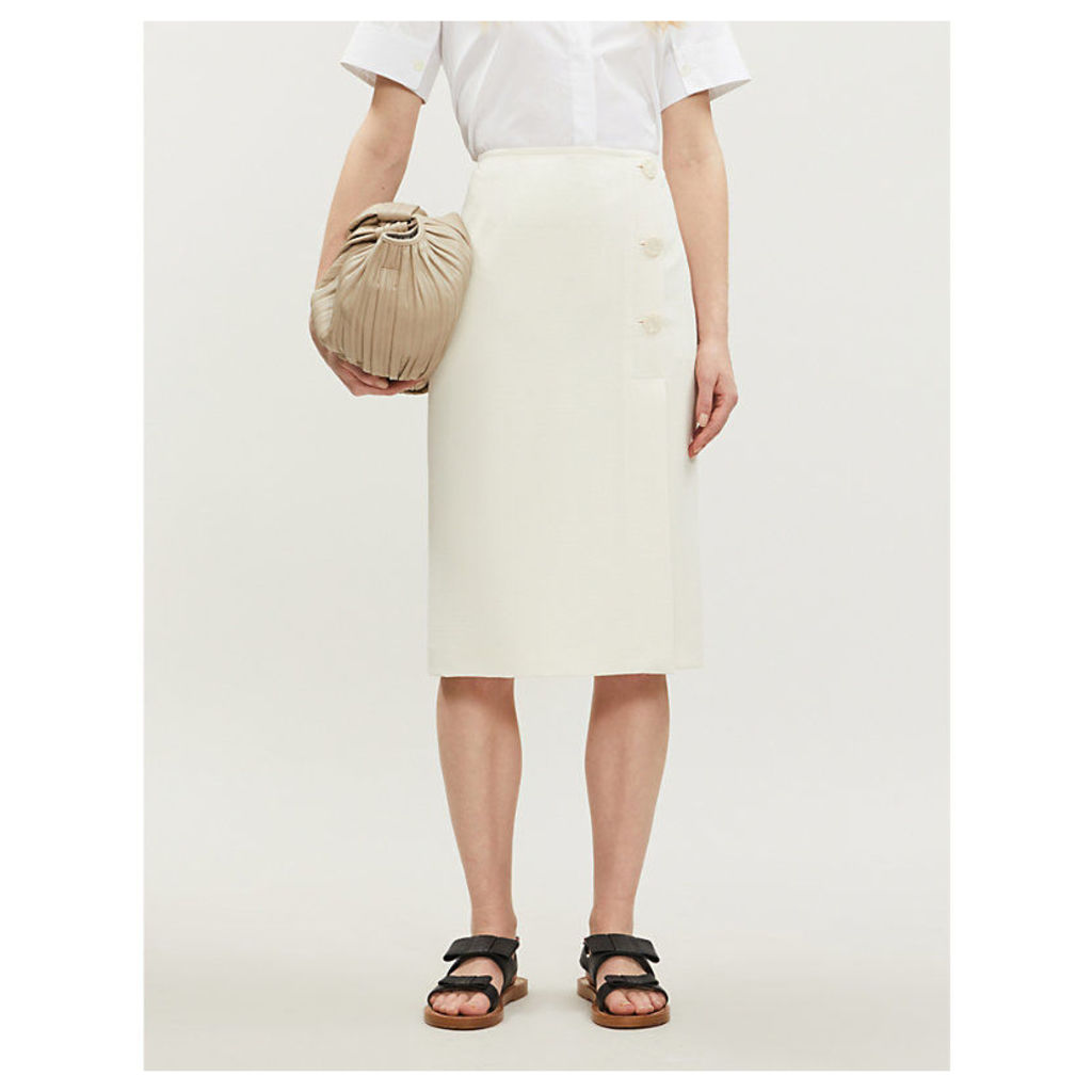 Sank fitted crepe skirt