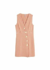 Textured gingham check dress